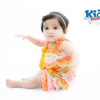 Colourful Baby Girl Romper With matching headband