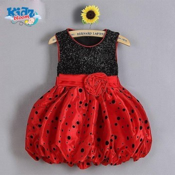 Red Puffy Princess Baby girl Dress