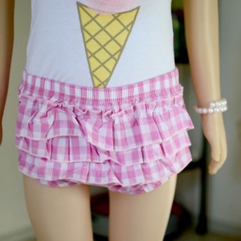 Cute Baby Girl sleeveless ice cream shorts set