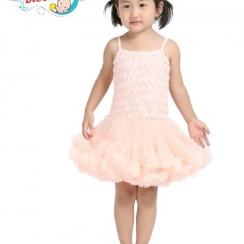 Creamy Rosette petti dress
