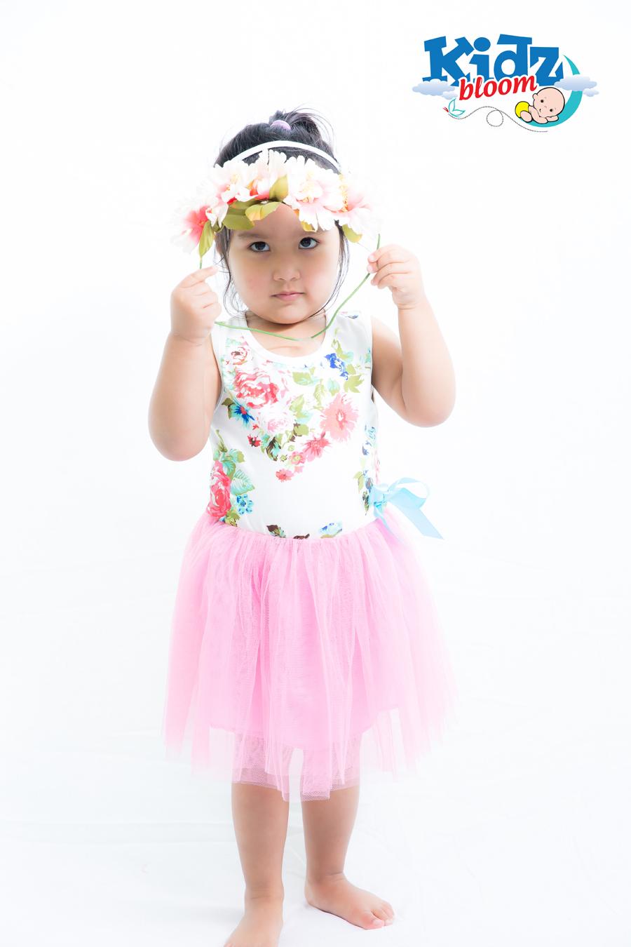Light Pink  Baby Girl Floral Summer Dress