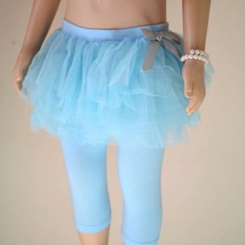 Blue Baby Girl Party Leggings