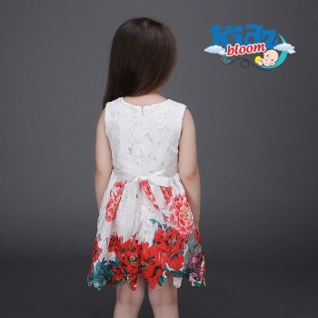 Floral dress with flowery belt
