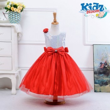 Red Tutu dress with beautiful sequin bow