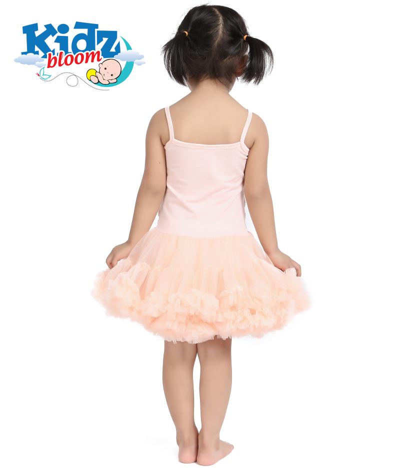 Creamy Rosette petti dress