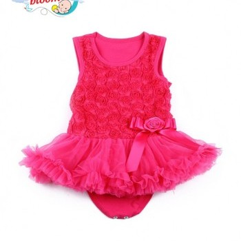 Rose princess tutu baby girl party jumpsuit