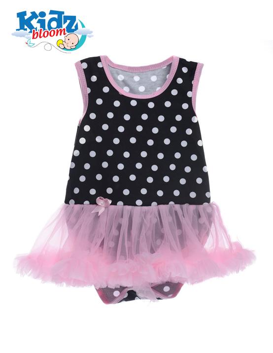 Pink sleeveless baby girl tutu dress