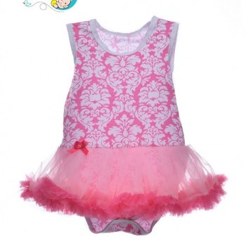 Rose sleeveless baby girl tutu dress