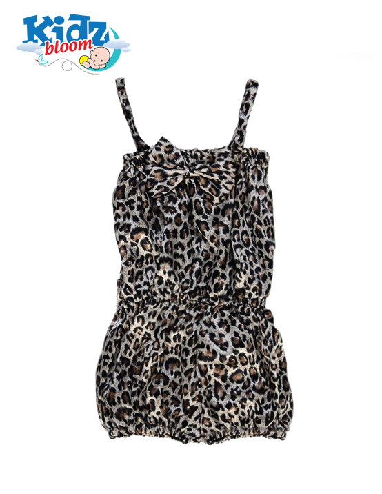 Leopard Baby Girl one piece romper dress
