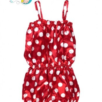 Baby Girl Polka dot one piece romper