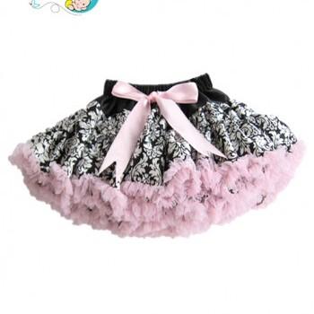 3pce Baby Girl cute flowery tutu skirt with black headband