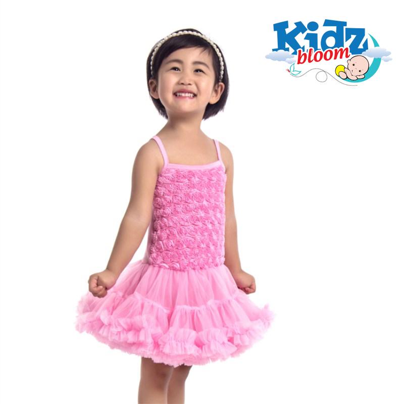 Pink rosette petti dress