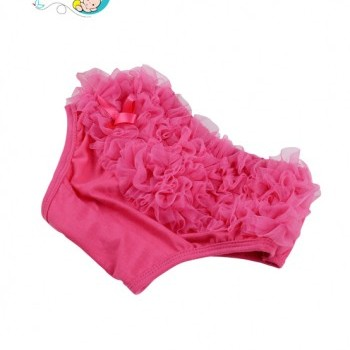 Hot Pink Baby Girl ruffled diaper cover
