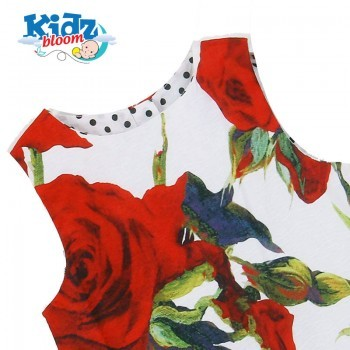 Rose sleeveless dress