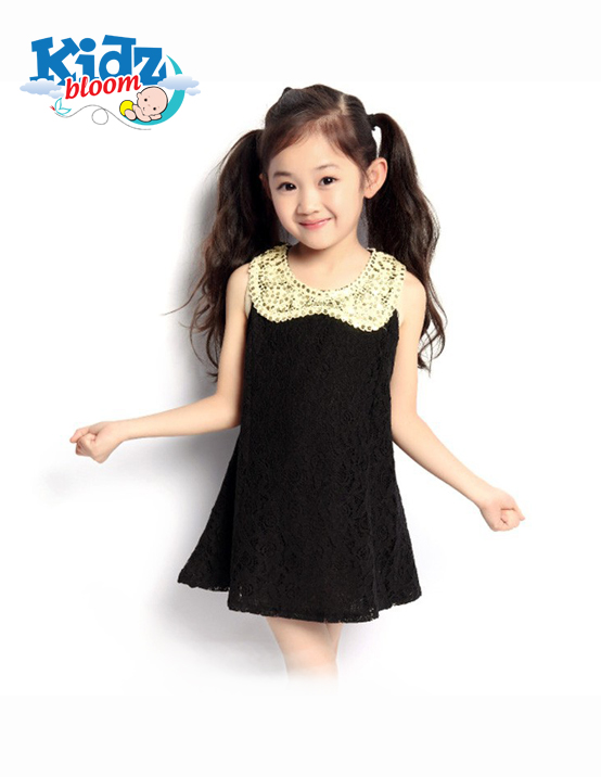 Black baby girl sequin party dress