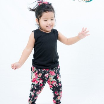 Three Pieces Casual Baby Girl Outfit with Headband