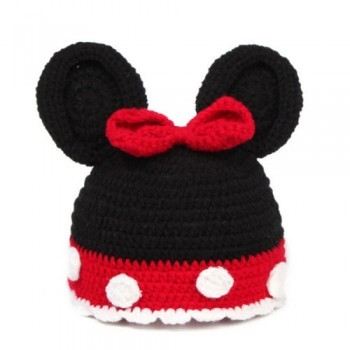 BLACK AND RED CUTE PHOTO-PROP BEANIE