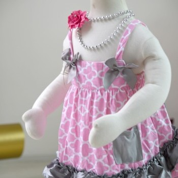 Pink Plaid Baby Girl Cotton Ruffled Bloomer Set