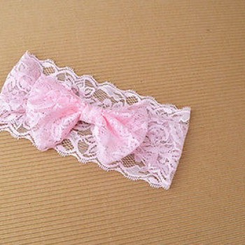 LIGHT PINK CUTE LACED HEADBAND