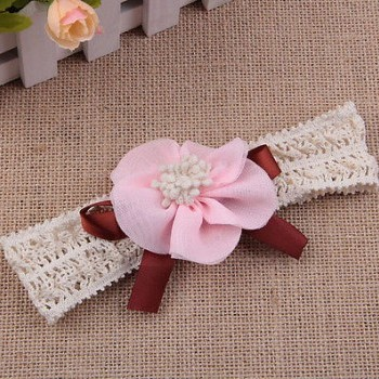 LIGHT PINK ELASTIC BOWBAND
