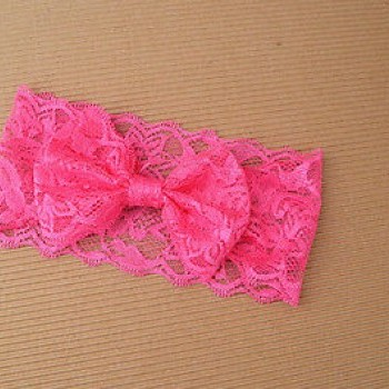 PINK CUTE LACED HEADBAND