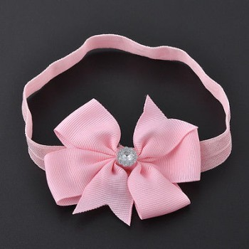 PINK SLIM BOW WRAP HEAD BAND