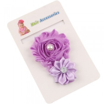Purple Cute Crystal Rose Band