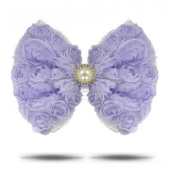 PURPLE ROSE BOWHEAD BAND