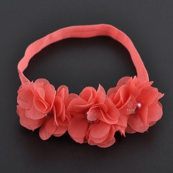 ROSE CHIFFON FLOWER HEADBAND