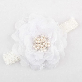 WHITE SINGLE FLOWER CRYSTAL BAND