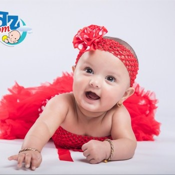 Baby Girl Red Pettiskirt with Crochet Tube and Headband