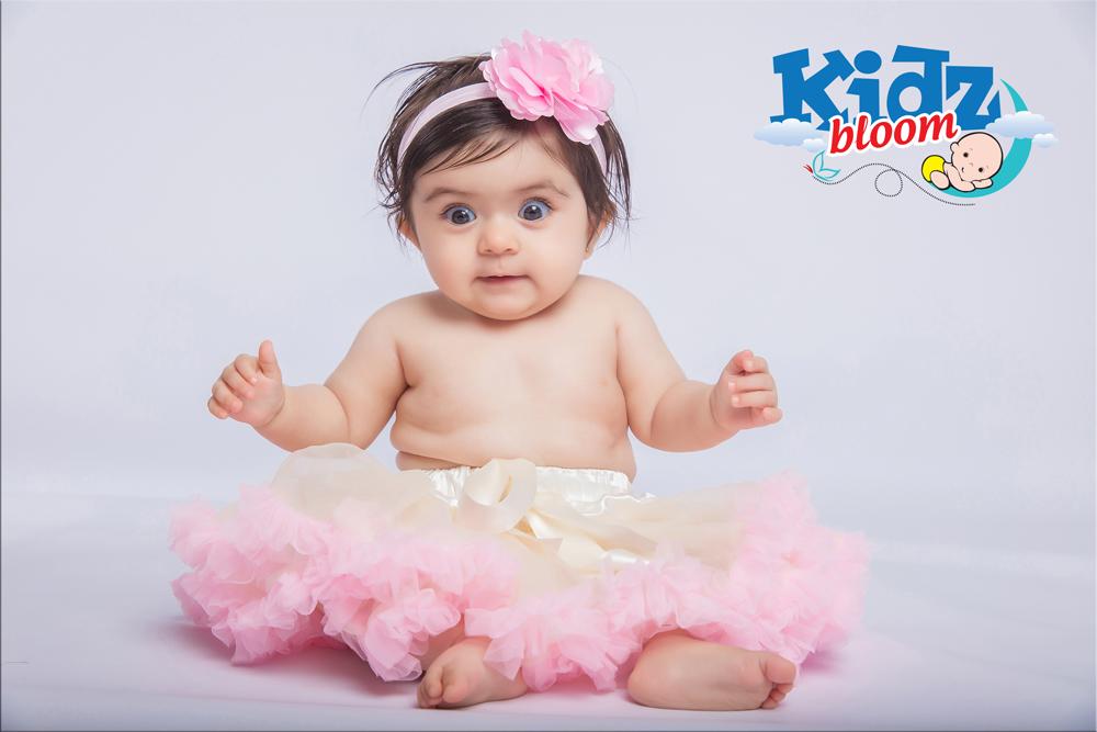 Creamy Pink Newborn Baby Girl Pettiskirt with Headband