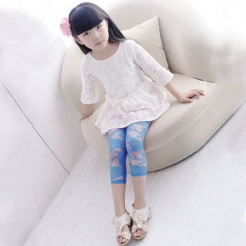 Baby Girl Blue casual legging