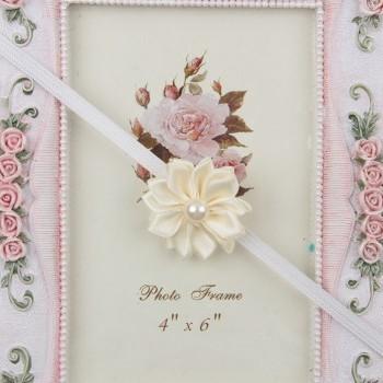 Flowery Biege Headband