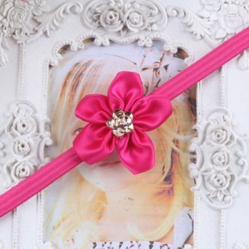 Hot Pink One Flower Mini Headband