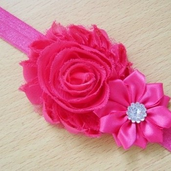 Hot Pink Pearl Rose Headband