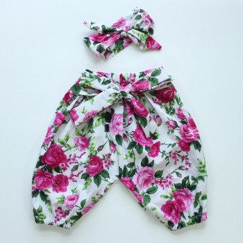 pink harem pant set Kidzbloom