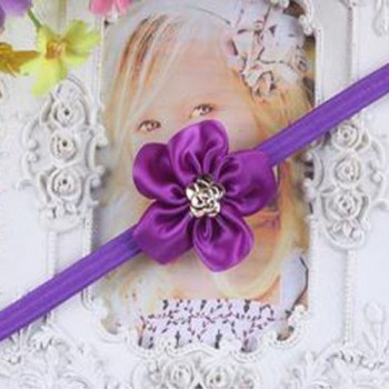 Purple One Flower Mini Headband
