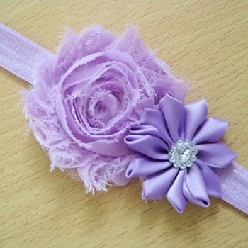 Purple Pearl Rose Headband
