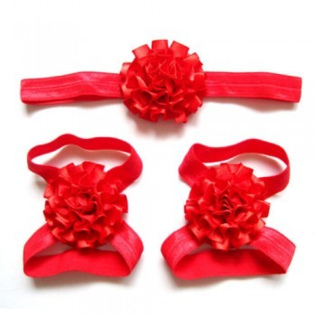 Red Headband and Footband Set